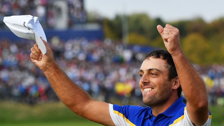 Francesco Molinari clinched the winning point to become the first European to win all five matches