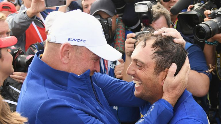 Molinari became the first European player to win all five of his matches at the Ryder Cup