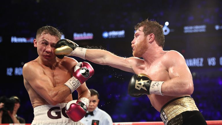 The defeat was Golovkin's first in 40 fights