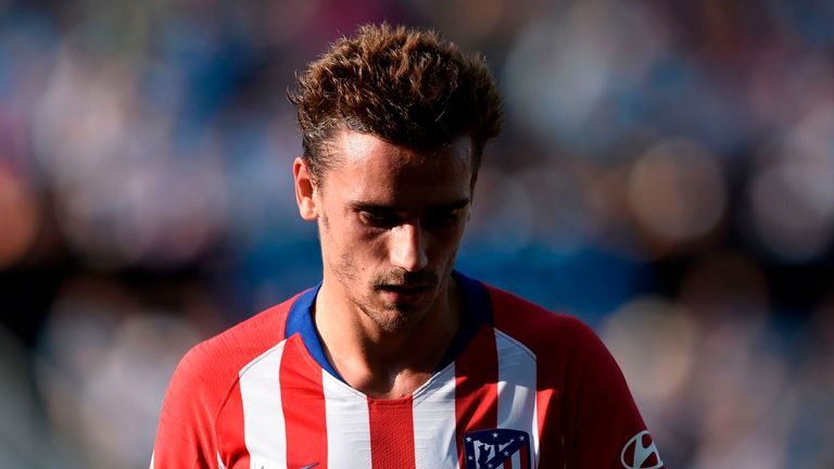 Antoine Griezmann fired a blank as 10-man Atletico Madrid was beaten at Celta Vigo