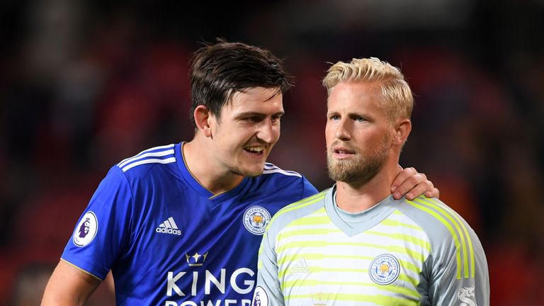 Schmeichel signed a new contract of his own before Maguire's committal