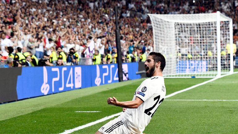 Isco celebrates putting Real Madrid ahead
