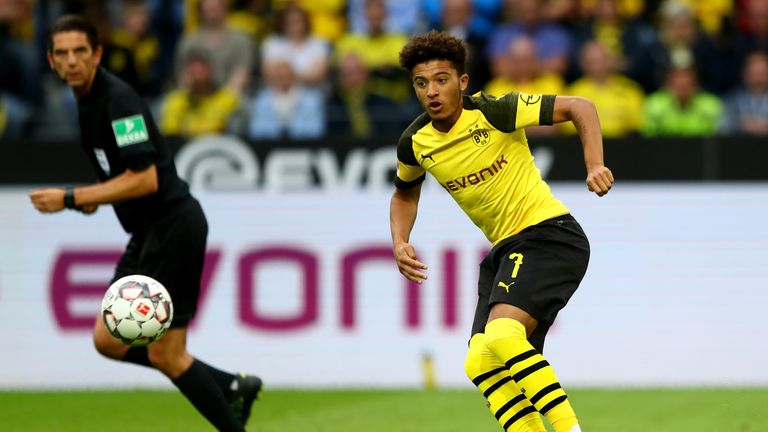 Jadon Sancho has featured in all of Borussia Dortmund's matches this term