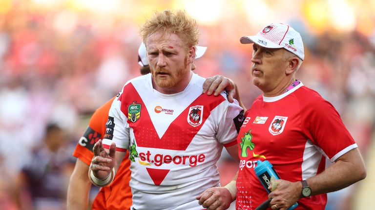Dragons will be hoping James Graham will pass concussion protocols