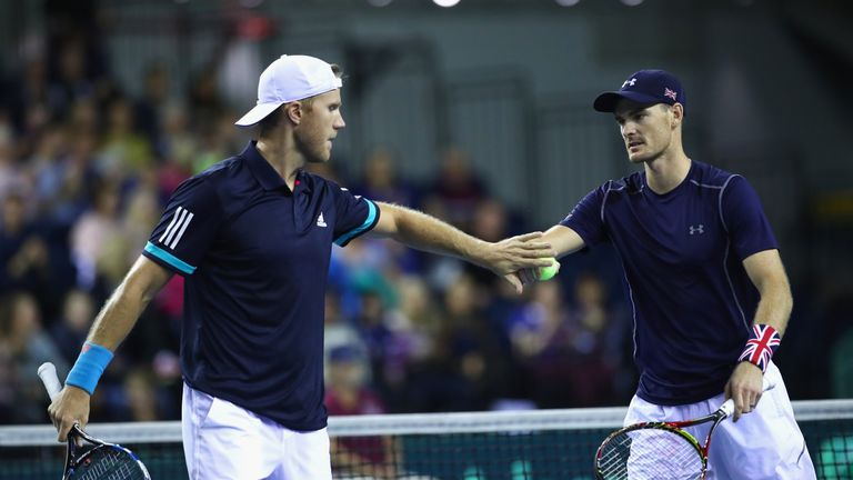 Murray and Iglot won 4-6 7-6 6-2 6-3 in Glasgow