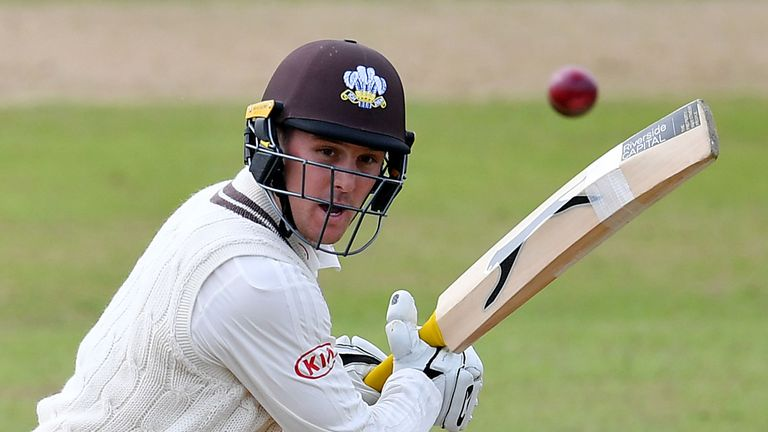 Surrey's Jason Roy in County Championship action