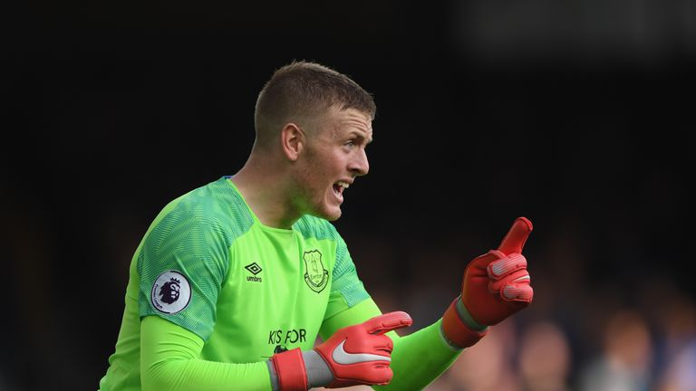 Jordan Pickford was at fault for West Ham's second goal with poor distribution