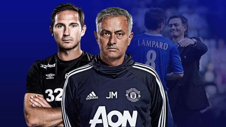 Jose Mourinho and Frank Lampard face each other on Tuesday