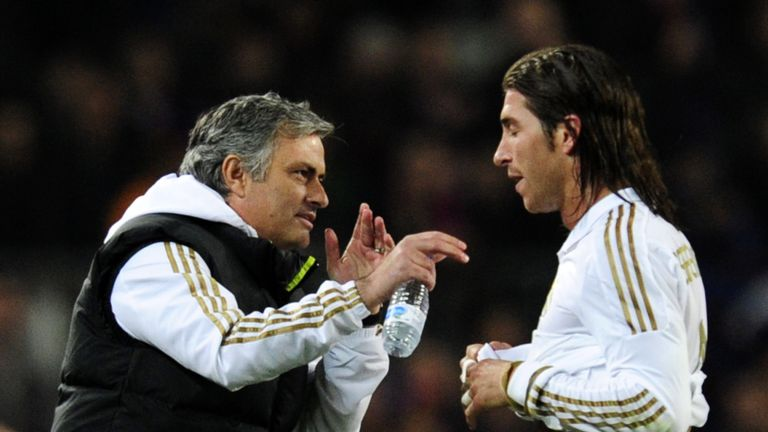 Sergio Ramos played under Jose Mourinho at Real Madrid from 2010 to 2013