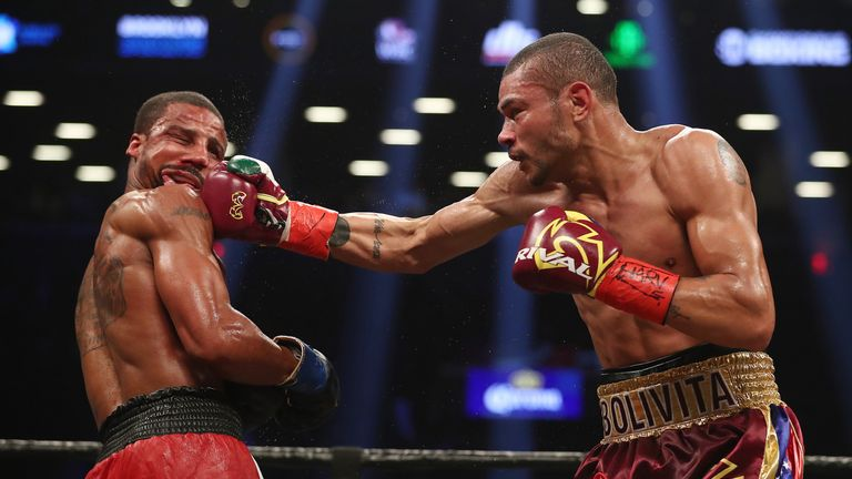 Jose Uzcategui (r) was due to challenge James DeGale for the IBF title