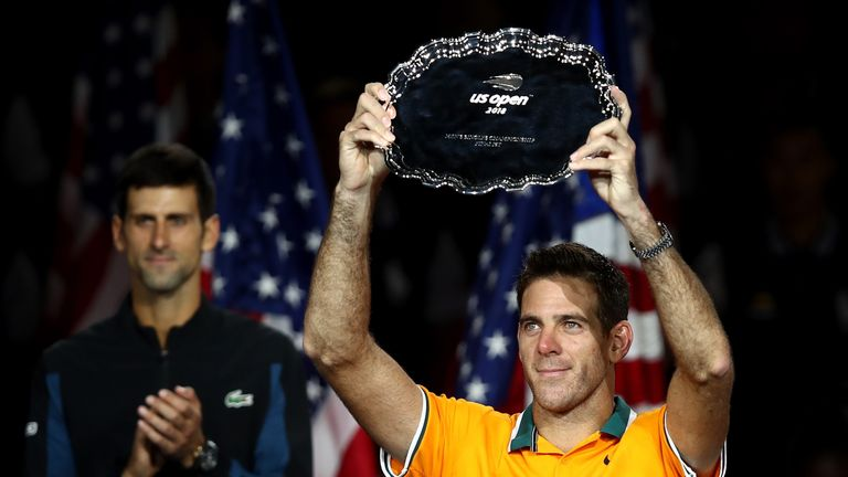 An emotional del Potro was playing in his first Grand Slam final for nine years