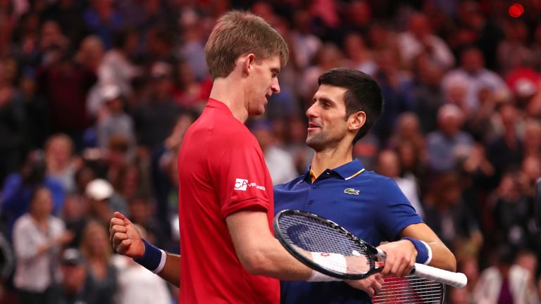 Djokovic congratulates Anderson on his huge win for Team World
