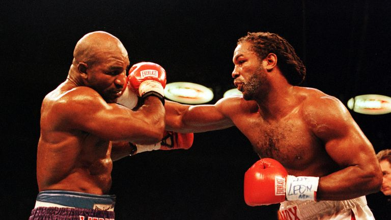 Evander Holyfield and Lennox Lewis