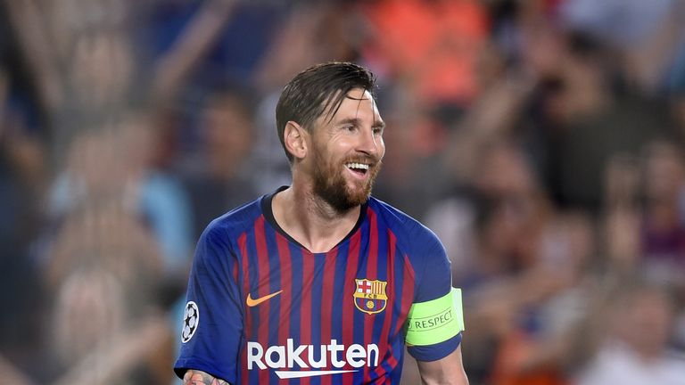 Lionel Messi scored another Champions League hat-trick
