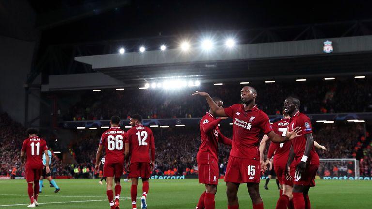 Sturridge's trademark celebration got an airing at Anfield on Tuesday