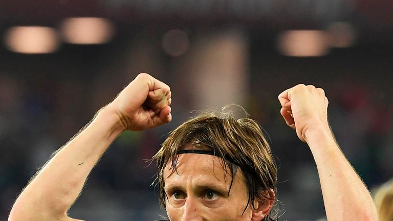 Modric helped Croatia reach a World Cup final for the first time