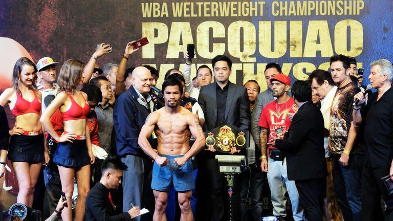 WBA champion Manny Pacquiao is top of Khan's shortlist