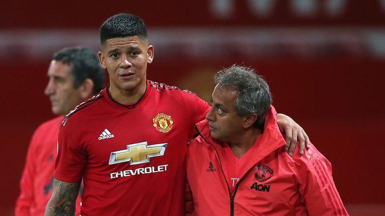 Marcos Rojo suffers injury setback on return