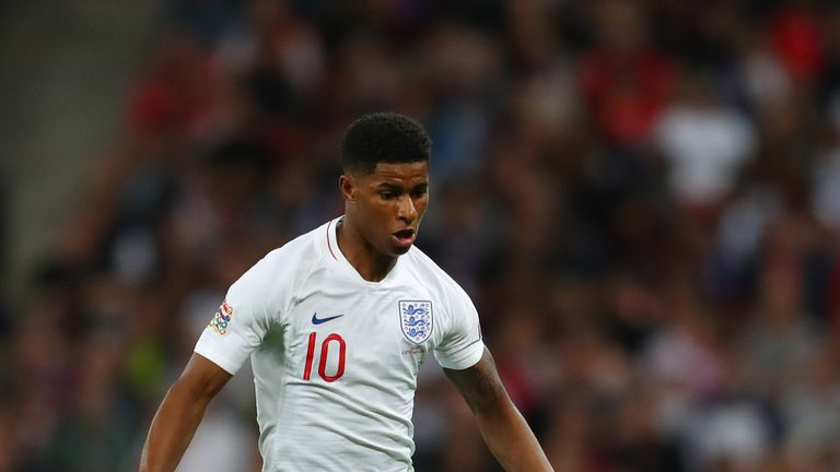 Marcus Rashford scored his fourth England goal in Saturday's 2-1 defeat to Spain