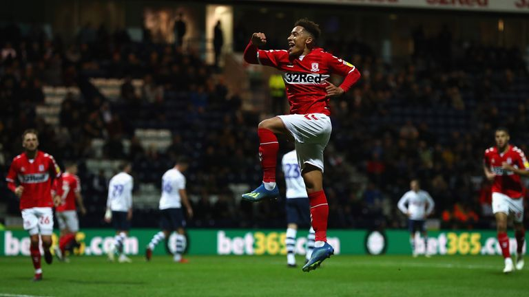Marcus Tavernier celebrates scoring for Middlesbrough