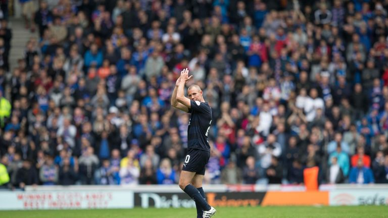 Miller applauded the Rangers fans after being sent off
