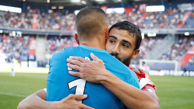 Fekir scored in Lyon's 2-2 draw with Caen on Saturday