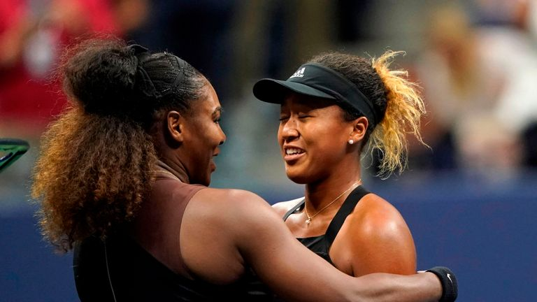 Williams congratulates Osaka on her victory