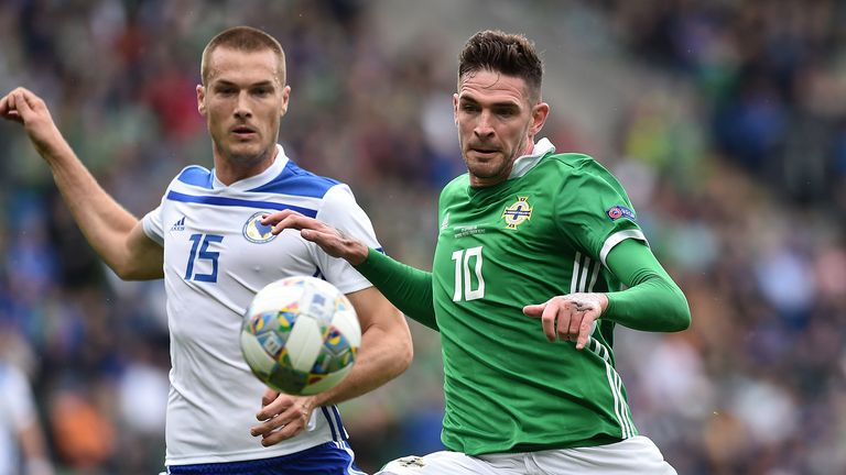 Kyle Lafferty withdrew from Northern Ireland's squad with an Achilles injury