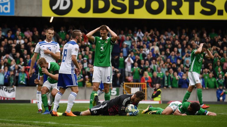 Northern Ireland were left to rue a host of missed chances at Windsor Park