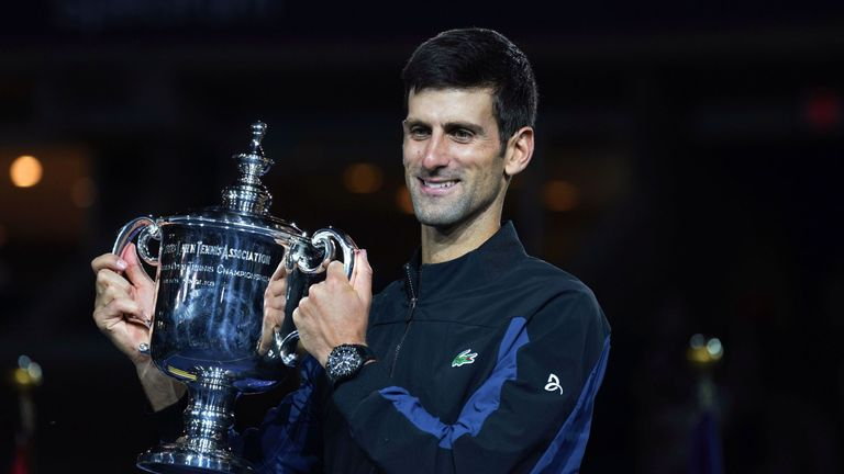 Novak Djokovic needs one more Grand Slam title to move third on the all-time list of major winners
