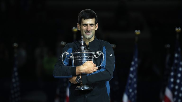 Djokovic now has 14 Grand Slam titles after winning the US Open and Wimbledon in 2018