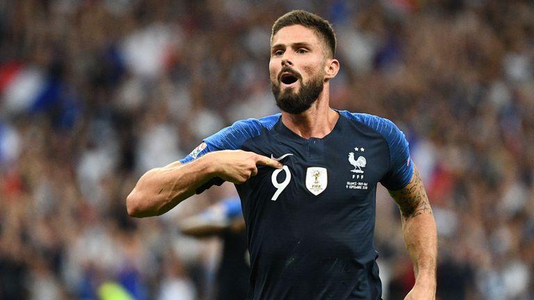 Chelsea striker Olivier Giroud scored the winner for France