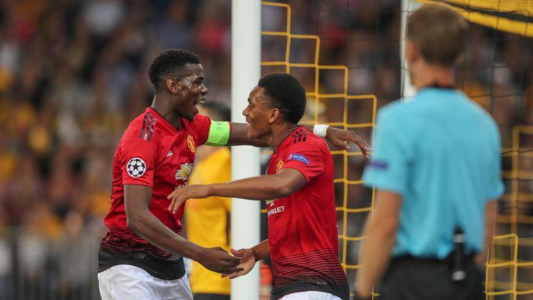 Pogba has developed a good understand with Anthony Martial in recent weeks