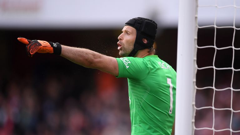Arsenal stopper Petr Cech was among the weekend's top performers, flying 130 places up the chart to No 17