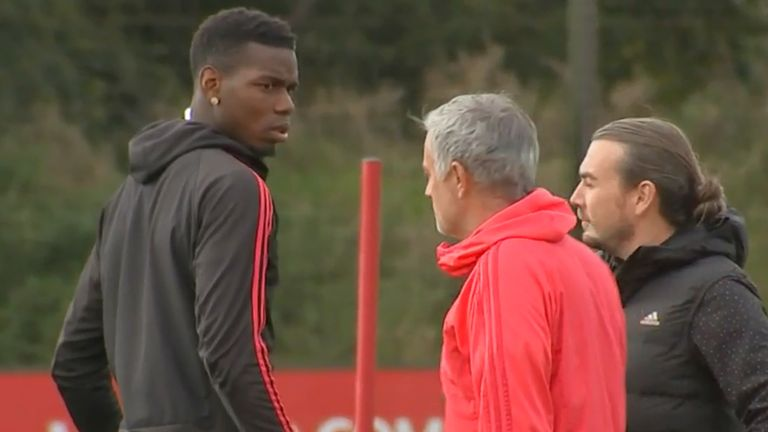 Pogba and Mourinho clashed in the months leading up to the latter's dismissal