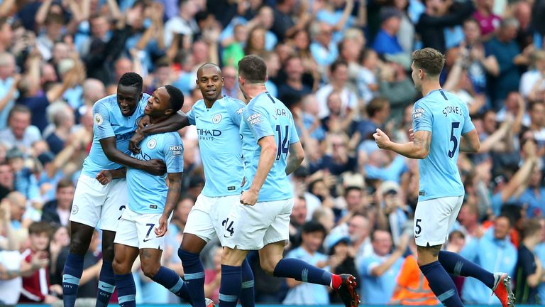 Man City celebrated a 2-1 win over Newcastle on Saturday