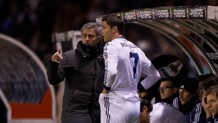 Jose Mourinho and Cristiano Ronaldo worked together at Real Madrid