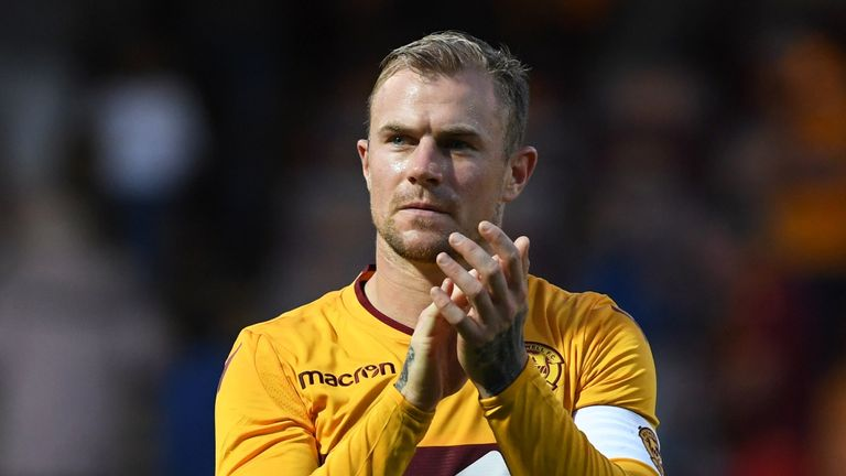 Richard Tait has played 10 times for Motherwell this season in all competitions, scoring once and keeping three clean sheet
