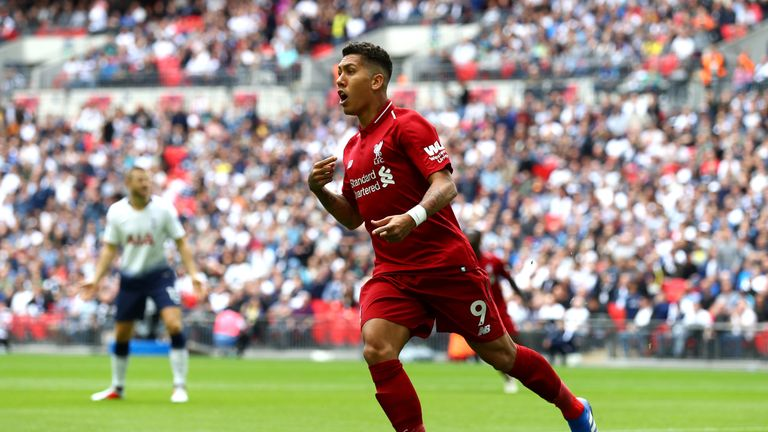 Roberto Firmino scored Liverpool's second goal against Spurs