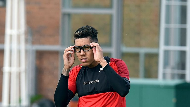 Roberto Firmino wore the protective eyewear after being caught in the eye by Jan Vertonghen last weekend