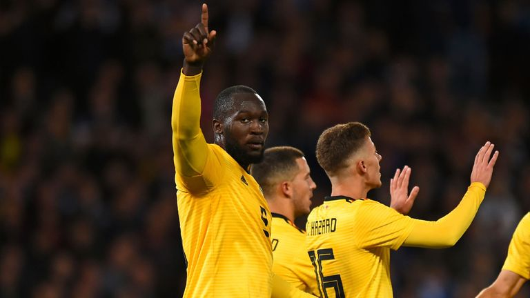 Romelu Lukaku scored twice as Belgium beat Iceland