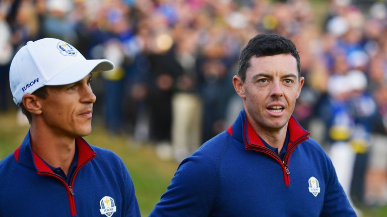 Rory McIlroy is paired with Ryder Cup partner Thorbjorn Olesen