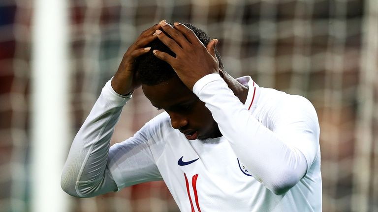 Ryan Sessegnon could not mark his England Under-21 debut with a goal