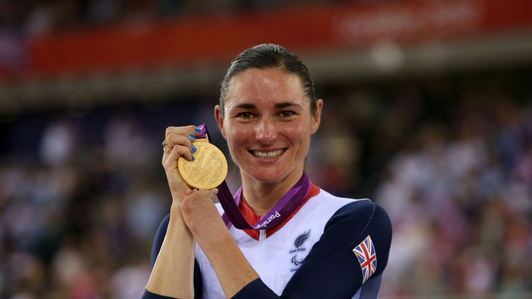Storey won Britain's first gold medal of the London 2012 Paralympics, and went on to claim three more
