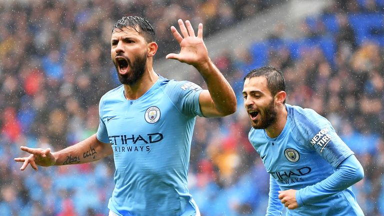 Man City outclass Brighton with sublime Agüero finish