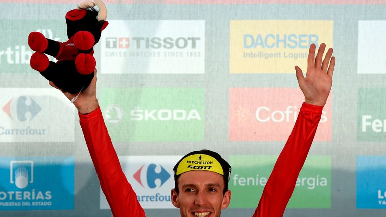 Yates first wore the red jersey after the 10th stage in Spain