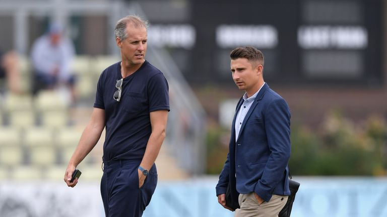 National selector Ed Smith (left) and England selector James Taylor