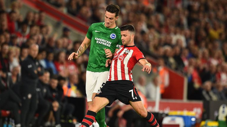 Shane Long in action for Southampton against Brighton