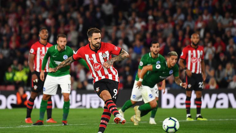 Danny Ings is the last Southampton player to have scored, in a 2-2 draw against Brighton on September 17