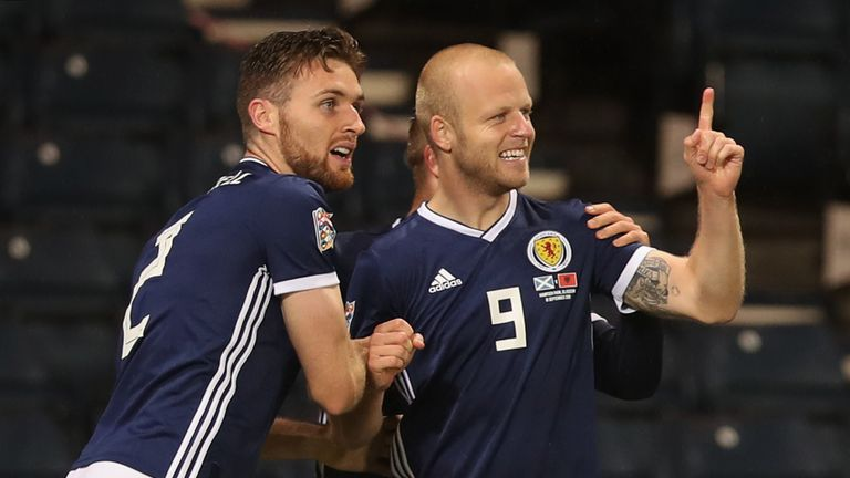 Hearts forward Steven Naismith is closing in on  50 Scotland caps